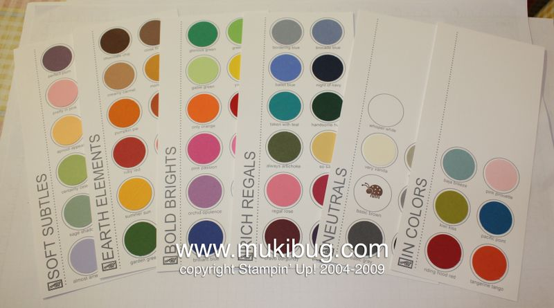 Color Swatch Cards