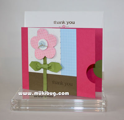 Polka Dot Flower Thank You Card