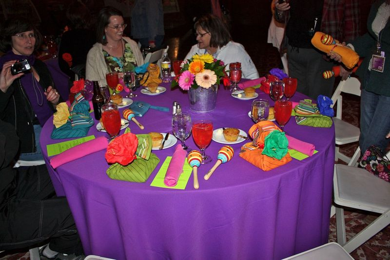 Our Mexican Fiesta table setting with a FREE st& set wrapped in  sc 1 st  Table Decorations & Mexican Table Decorations Ideas Photograph | Our Mexican Fie