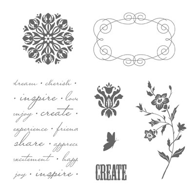 Charming™ Rubber Stamp Set
