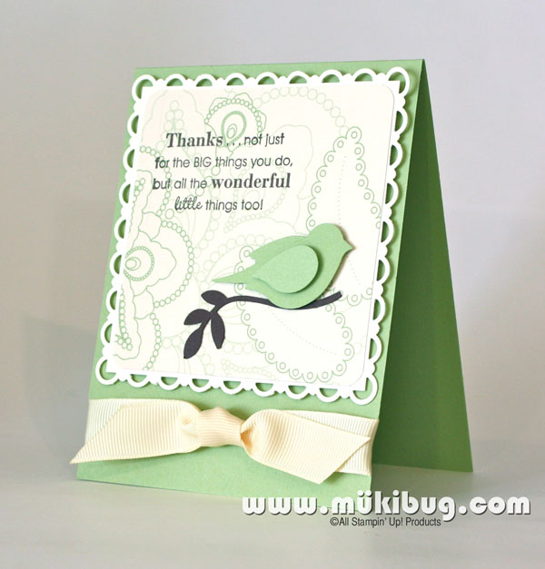 Full of Life Rubber Stamped Card